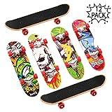 THE TWIDDLERS 12pcs Monopatines para Dedos, Mini Diapasón, Fingerboard Finger Skate Boards, Piñatas, Cumpleaños Regalos , Juguetes De Interior para Niños, para Horas De Juego y Entretenimiento