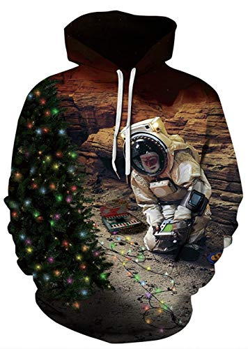 WANTAI NASA Cosplay Costume Realistic 3D Print Sweatshirt Space Exploration Logo Hooded Unisex Unisex Casual Pullover