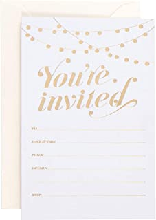 Party Invitations! 25 Traditional Invitations with Envelopes, Wedding, Baby and Bridal Shower Invite, Housewarming Birthday and Girls Quinceanera Invites