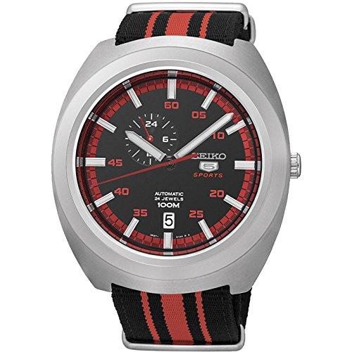 Seiko 5 Sport orologio automatico da uomo con quadrante nero SSA287