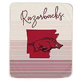 Pegasus Sports NCAA Ultra Fleece State Stripe Blanket- Arkansas Razorbacks