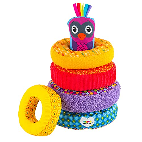 Product Image of the LAMAZE - Rainbow Stacking Rings Toy, Help Baby Develop Fine Motor Skills and...