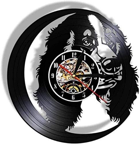 CCGGG Reloj de Pared de Vinilo Personalizado, Raza de Perro, Golden Retriever, Nombre de Perro, Labrador, inauguración de la casa, celebración, Regalo para Amantes, 12 Pulgadas
