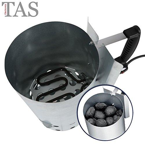 Elektrischer Grillkohle-Anzünder Grillanzünder Anzündkamin Schnellanzünder Ofen