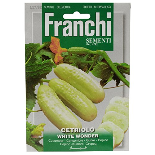 Seeds of Italy Ltd Franchi Gherkin Bianco Concombre blanc