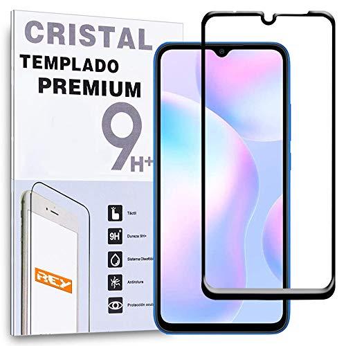 Protector de Pantalla Curvo para XIAOMI REDMI 9A - REDMI 9C, Negro, Cristal Vidrio Templado Premium, 3D / 4D / 5D, Anti Roturas