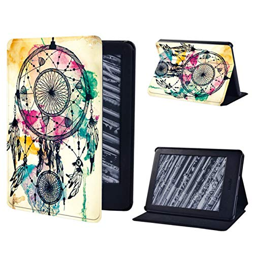 Custodia In Pelle Per Amazon Kindle Paperwhite1 / 2/3/4 Tablet Case For Kindle 10Th Generation / Kindle 8Th Generation Drop-Proof And Waterproof Tablet Stand Cover, 10.Dream Catcher, Kindle Paperwhit