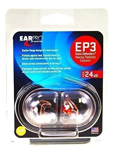 Surefire Erwachsene Gehörschutz EP3 Sonic, Transparent, Klein, LAS-EP3-SPR - 6
