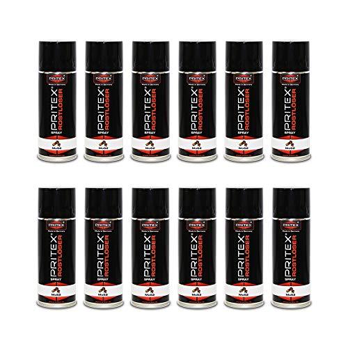 Rostlöser 12 x 400ml Spray MoS2 Rostlöserspray Kriechöl Hochwertiger Schmiermittel