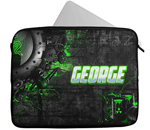 Personalised Any Name Generic Design Laptop Case Sleeve Tablet Bag Chromebook Gift 32 (9-10 inch)