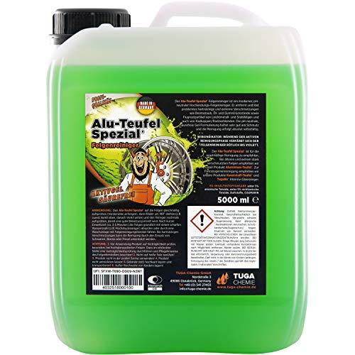 TUGA Chemie 0 Alu-Teufel Spezial Felgenreiniger Aktiv-Gel für glänzende Alufelgen dank säurefreier Schmutzentfernung , 5000 ml