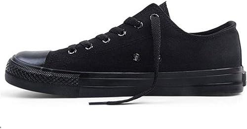Version coréenne de la Tendance des étudiants Sauvages Chaussures Hautes Chaussures pour hommes-noir-43