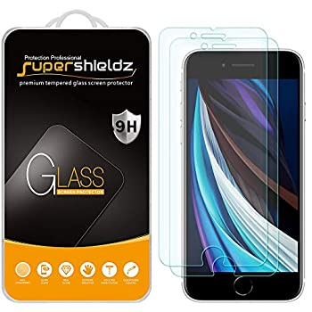 2 Pack  Supershieldz Designed for Apple iPhone 8 and iPhone 7  4.7 inch  Tempered Glass Screen Protector Anti Scratch Bubble Free