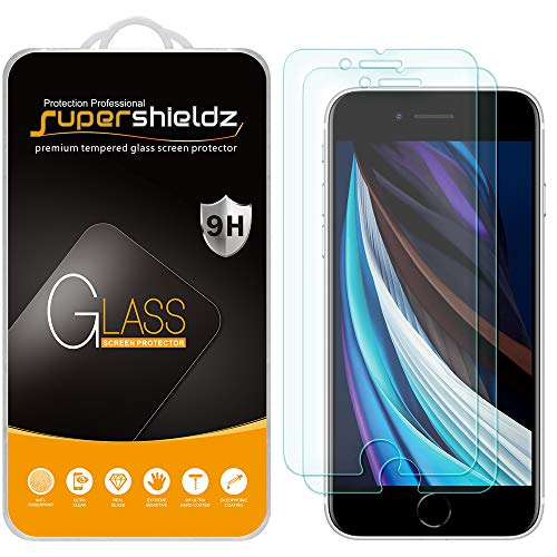 (2 Pack) Supershieldz for Apple iPhone 8 and iPhone 7 (4.7 inch) Tempered Glass Screen Protector, Anti Scratch, Bubble Free