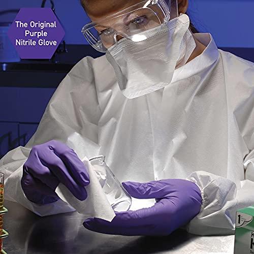 "Kimberly-Clark Purple Nitrile Exam Gloves (55082), Medium, 5.9 Mil, Ambidextrous, 9.5"", 100 Nitrile Gloves/Box"