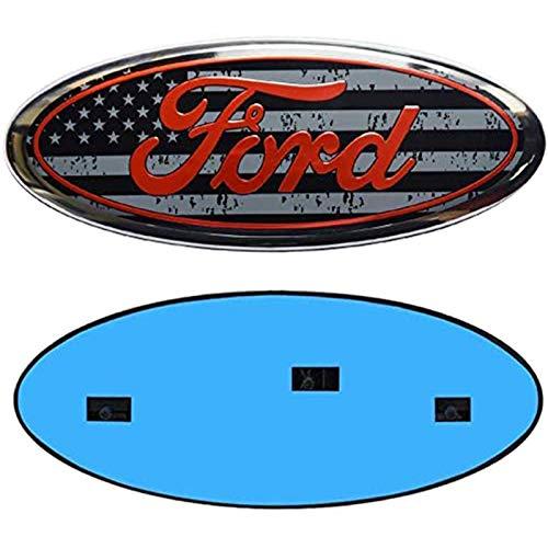 Compatible with F150 Emblem Oval 9'X3.5',Ford Front Grille Tailgate Emblem Decal Badge Nameplate Fits for 04-14 F250 F350,11-14 Edge,11-16 Explorer,06-11 Ranger,Ford Explorer badge
