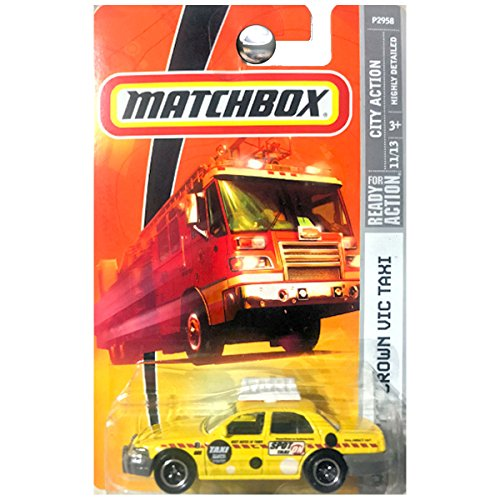 Matchbox City Action 2006 Crown Vic Victoria Taxi Yellow 51