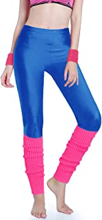 Kimberly's Knit Women 80s Party Neon Capri Running Workout Leggings Leg Warmers