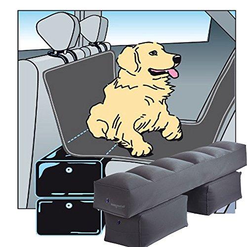 TierXXL.de Gapfill Plus Double Car Seat Extender Opblaasbaar Platform 124 x 25 x 35 cm Inclusief Elektrische Pomp