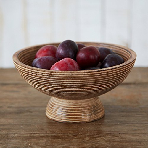 Paper High Hand Carved Makula Raised Design Mango Wood Bowl   Fair Trade   Handmade   Sustainable Wooden Serving Bowls