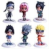 Ltong 6 Unids / Set Figura De Anime Naruto Naruto Sakura Kakashi Sasuke Haku Zabuza Naruto Figura De Acción Modelo De Juguete 8 Cm