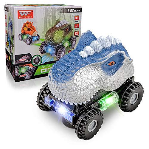 Auto Spielzeug für Jungen Alter 3 4 5 Kleinkind,Baby Dinosaurier Spielzeug für 3-8 Jährige Kinder Blinkende LED-Reifen Autospielzeug für Kinder im Alter von 2 3 4 Geburtstagsgeschenk Spielzeug