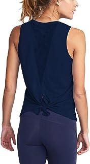 Bestisun Women's Open Back Sleeveless Casual T-Shirt Basic Workout Tank Top