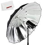 Godox 写真スタジオ 70インチ178 cmブラックホワイト反射傘スタジオ照明傘付き大きな拡散カバー布 (Godox 70インチ 黒と銀傘)