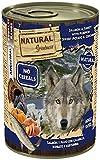 Natural Greatness Comida Húmeda para Perros de Salmón y Pavo con Calabaza, Boniato y Curcumina. Pack de 6 Unidades. 400 gr Cada Lata