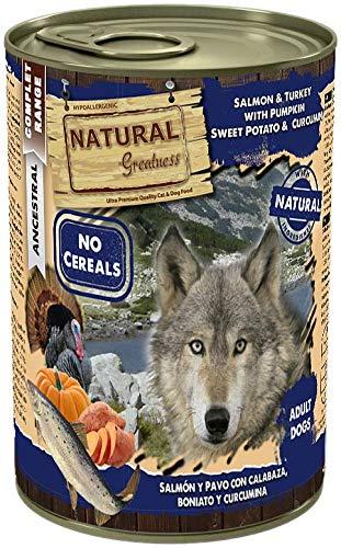 Natural Greatness Comida Húmeda para Perros de Salmón y Pavo