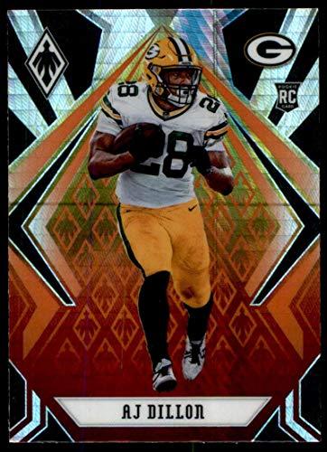 2020 Panini Phoenix Fire Burst #125 AJ Dillon Green Bay Packers (Silver Prizm Refractor) NFL Football Card (RC - Rookie Card) NM-MT