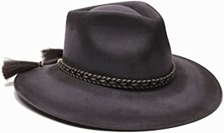 'ale by alessandra Women's Roxy Dene Distressed Felt Hat with Horse Tail Trim