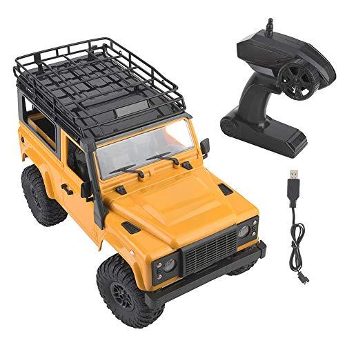 RC Toy Car, Kinder-Elektrofahrzeuge Fernsteuerungs-LKWs Fernsteuerungs-LKW Fernsteuerungsauto, 2.4G Fernsteuerungs-Geländewagen für Jungen Kinder(Desert Yellow)