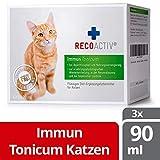 RECOACTIV Immun Tonicum für Katzen, 3 x 90 ml, zur Vorbeugung und Immunstärkung der Katze, wirkungsvoller diätischer Appetitanreger für Katzen bei Appetitlosigkeit