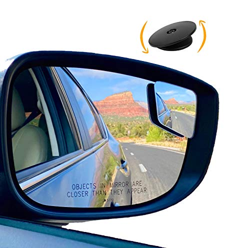 'Rhombus 4' Blindspot Mirror by Safe View Company - Safer Lane Changes, Frameless Design, HD Glass, Convex Mirror Seamlessly Contours to Your Car's Side Mirror, Easy Installation (63x50mm) (2 Pack)