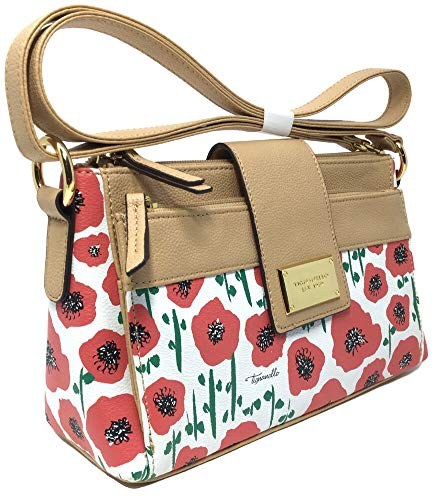 Tignanello Social Status Function Cross Body W/RFID, Strawberry Poppy, T75458