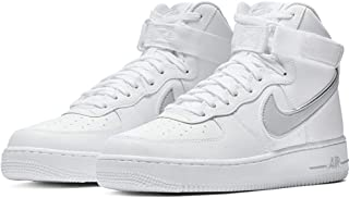 Nike Men's Air Force 1 High '07 3 Basketball Sneakers, White/Wolf Grey (US 13)