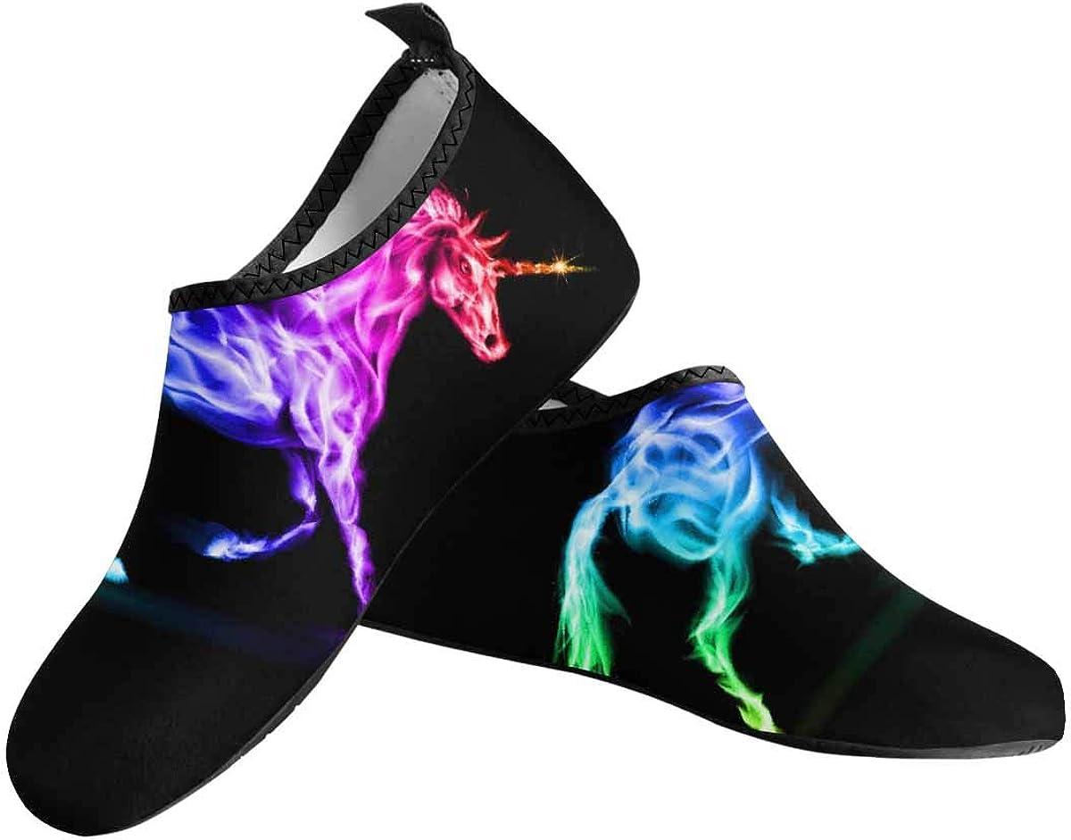 InterestPrint Women's Barefoot Shoes Aqua Socks for Swim Beach Pool Surf Yoga (US6~US12)