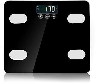体組成計 体重 体脂肪計 最大180kg スマホ連動 13種類測定可能 体重/体脂肪率/体水分率/推定骨量/基礎代謝量/内臓脂肪レベル/BMIなど測定可能 ?iOS/Androidアプリで健康管理 (ブラック)