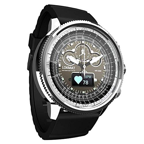 YLKCU Relojes para Hombre Cronógrafo Deportivo Reloj de Pulsera de Cuarzo Resistente al Agua con Control de frecuencia cardíaca Podómetro de calorías Cronómetro Relojes Inteligentes con