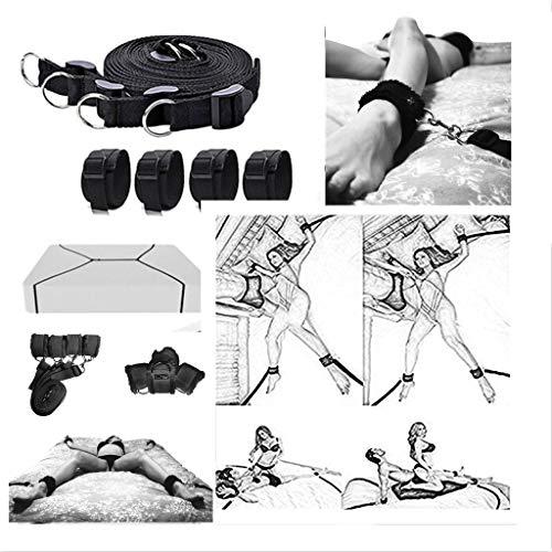 Verstellbare Matratze mit vier Manschetten-fits schnell Jede Größe Matratze, schwarz