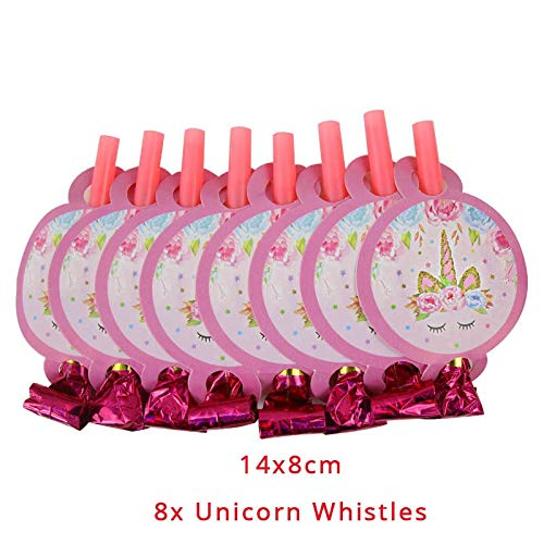 Yinxinhui Jeu de vajilla desechable para decoración de Fiestas de cumpleaños con unicornios, globos y platos, servilletas para niños, artículos para Fiestas (Farbe : 8pcs Blowing Dragon)