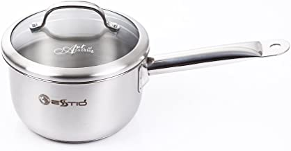 Zebra Stainless Steel Sauce Pan with Glass Lid, Estio Pro 3-PLY, 16cm