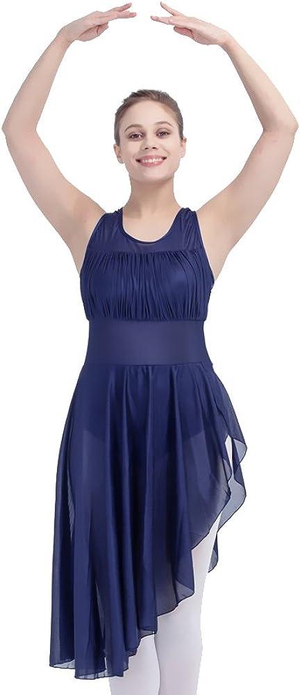 HDW DANCE Women Elegant Mesh Halter Max 85% OFF Leotard C Dress Lyrical Dance Modern