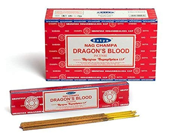 未払い民族主義いとこSatya Dragon 's Blood Incense Sticks 180グラムボックス