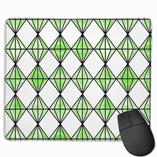 Sims Plumbob Inspired Rectangle Non-Slip Rubber Base Mouse Pad Gaming and Office Mousepads for PC and Laptops 9.8 X 11.8 inch