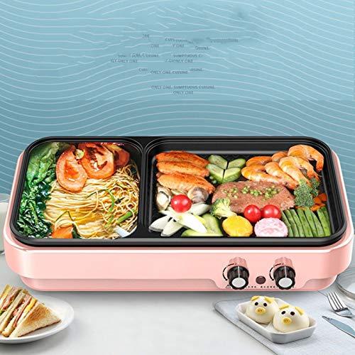 haiba Haushaltsrauchfreies elektrisches Antihaft-Backgeschirr Indoor-Multifunktionsgrill Elektro-Hot-Pot-Grill