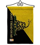 Gadsden Anarcho Capitalist Garden Flag Set Wall Hanger Patriotic July Memorial Veteran Independence United State American Small Decorative Gift Yard House Banner Double-Sided Made in USA 13 X 18.5