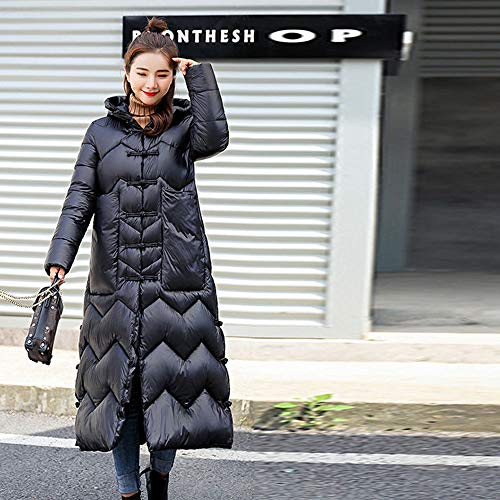 Alikey winterjas voor dames, groot formaat, donsjas zonder mouwen, met capuchon, lange mouwen, van katoen, effen, met capuchon, voor vrouwen