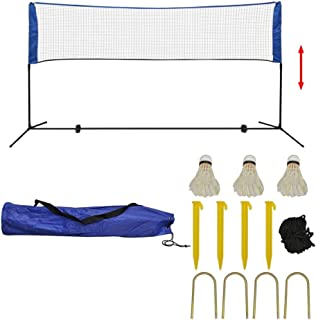 Generic Tress/é Filet de Badminton en Fibre de Polypropyl/ène pour Formation Professionnelle Norme 6.1X0.76M